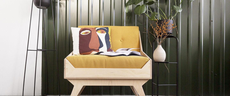 armchair seat resting place plywood custom handmade