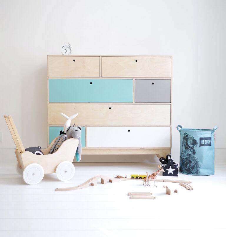 plywood chest of drawers children handmade custom