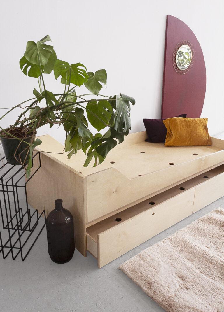 plywood double bed handmade custom