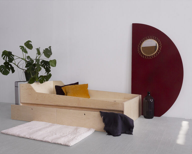 plywood double bed handmade
