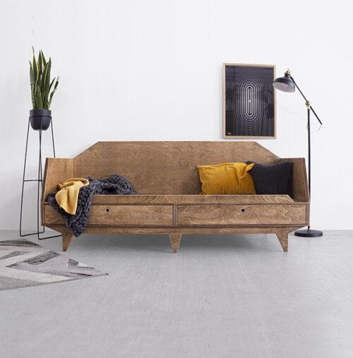 łóżko leżanka sofa ze sklejki