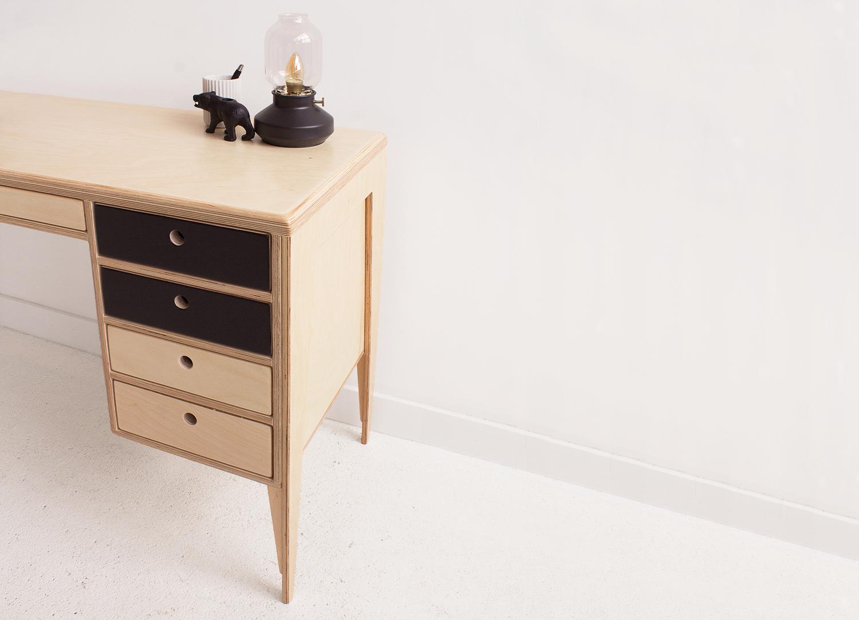 plywood office desk drawers handmade custom