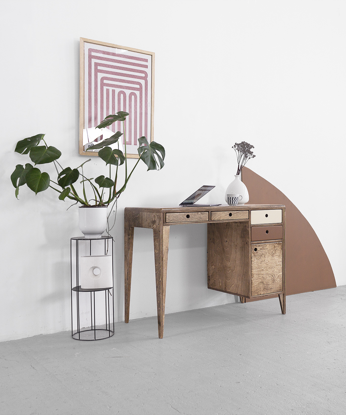 desk office plywood loft worktop custom handmade