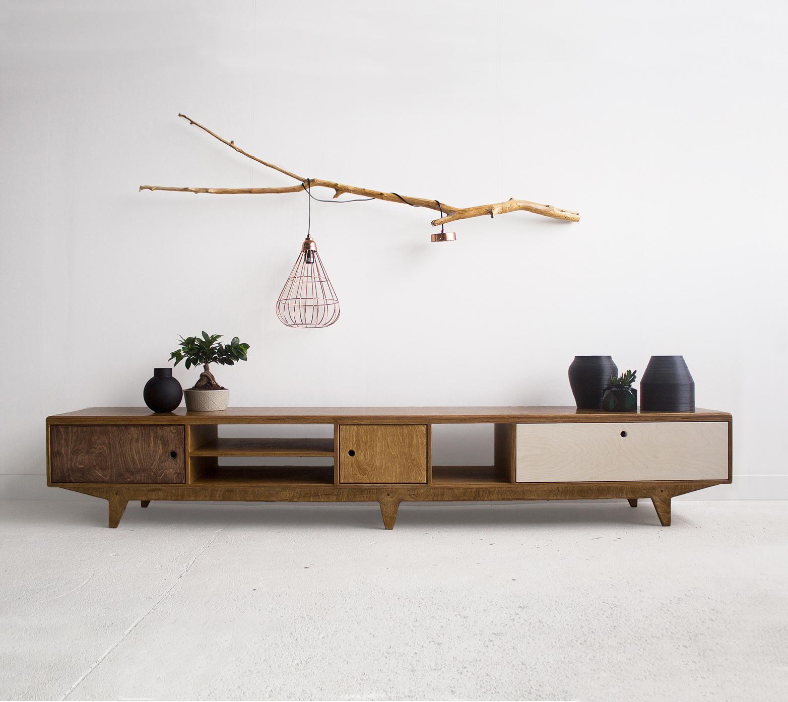 plywood cabinet tv unit custom handmade design