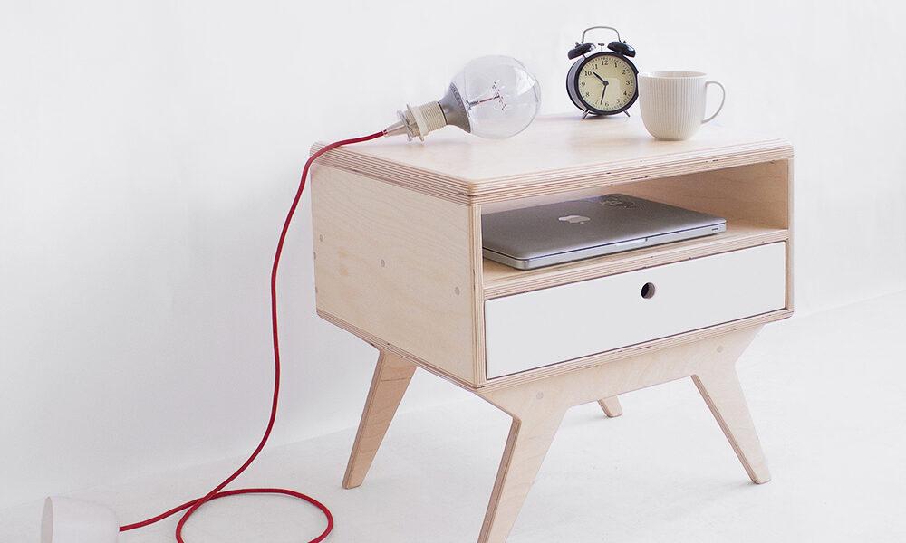 plywood night stand handmade custom