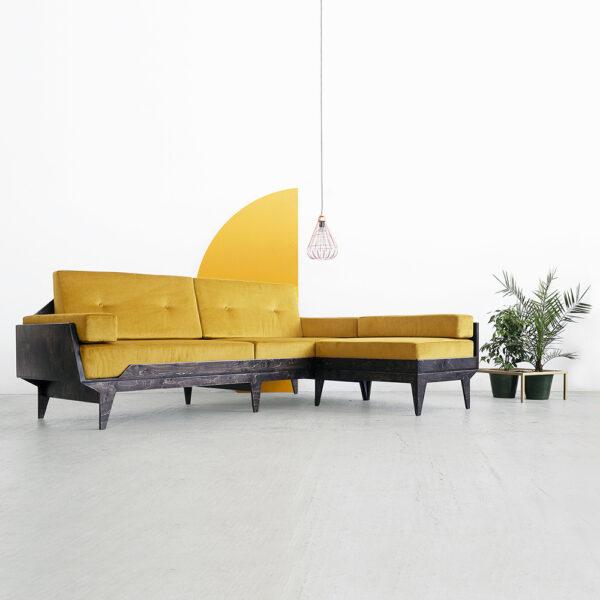 premium wooden corner sofa