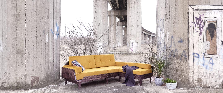 corner sofa plywood