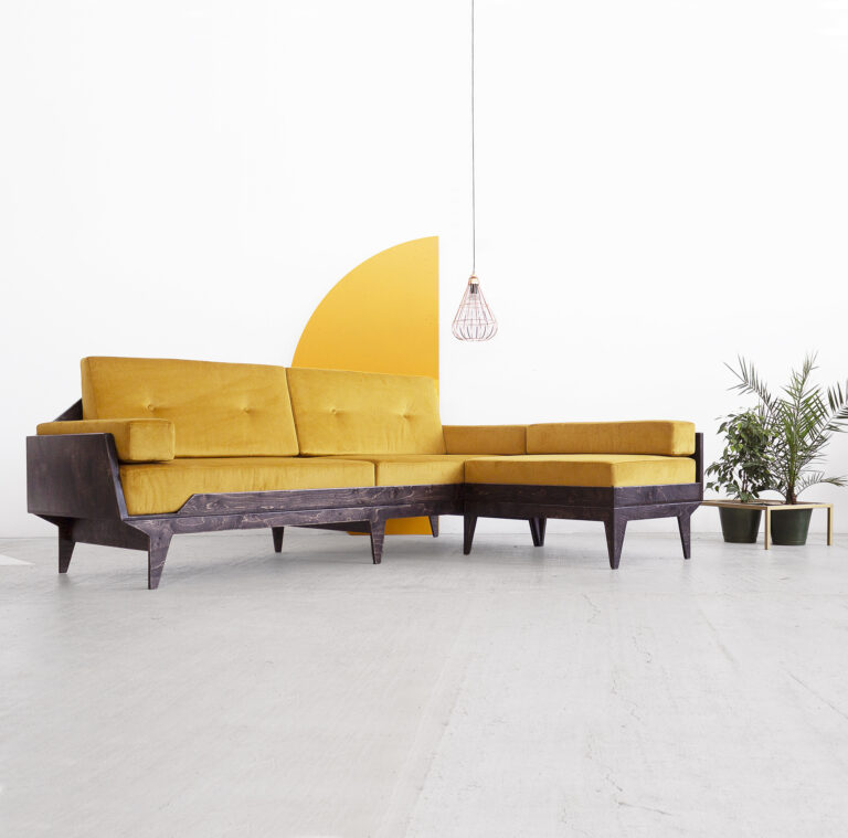 plywood corner sofa