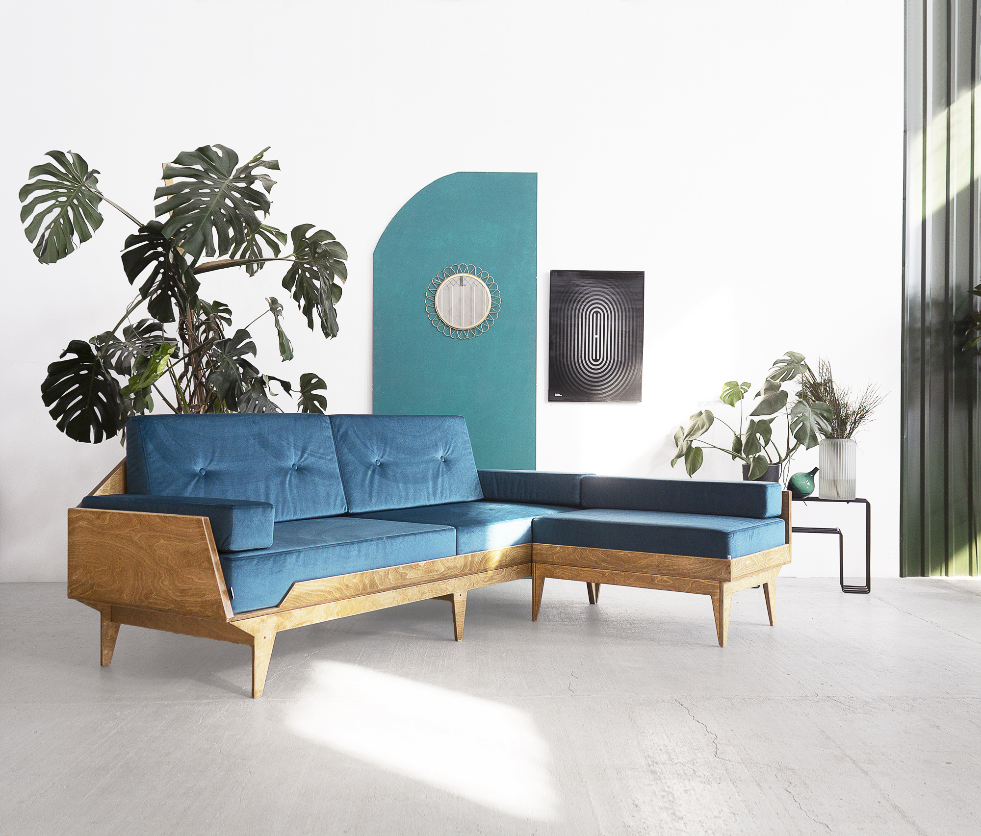 vintage corner sofa
