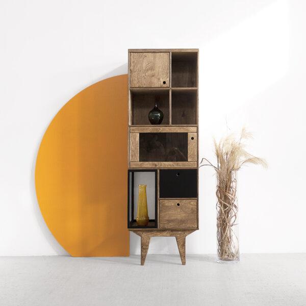 glazed showcase cabinet plywood steel
