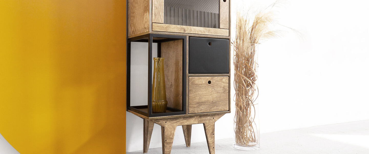 steel cube plywood glass showcase cabinet