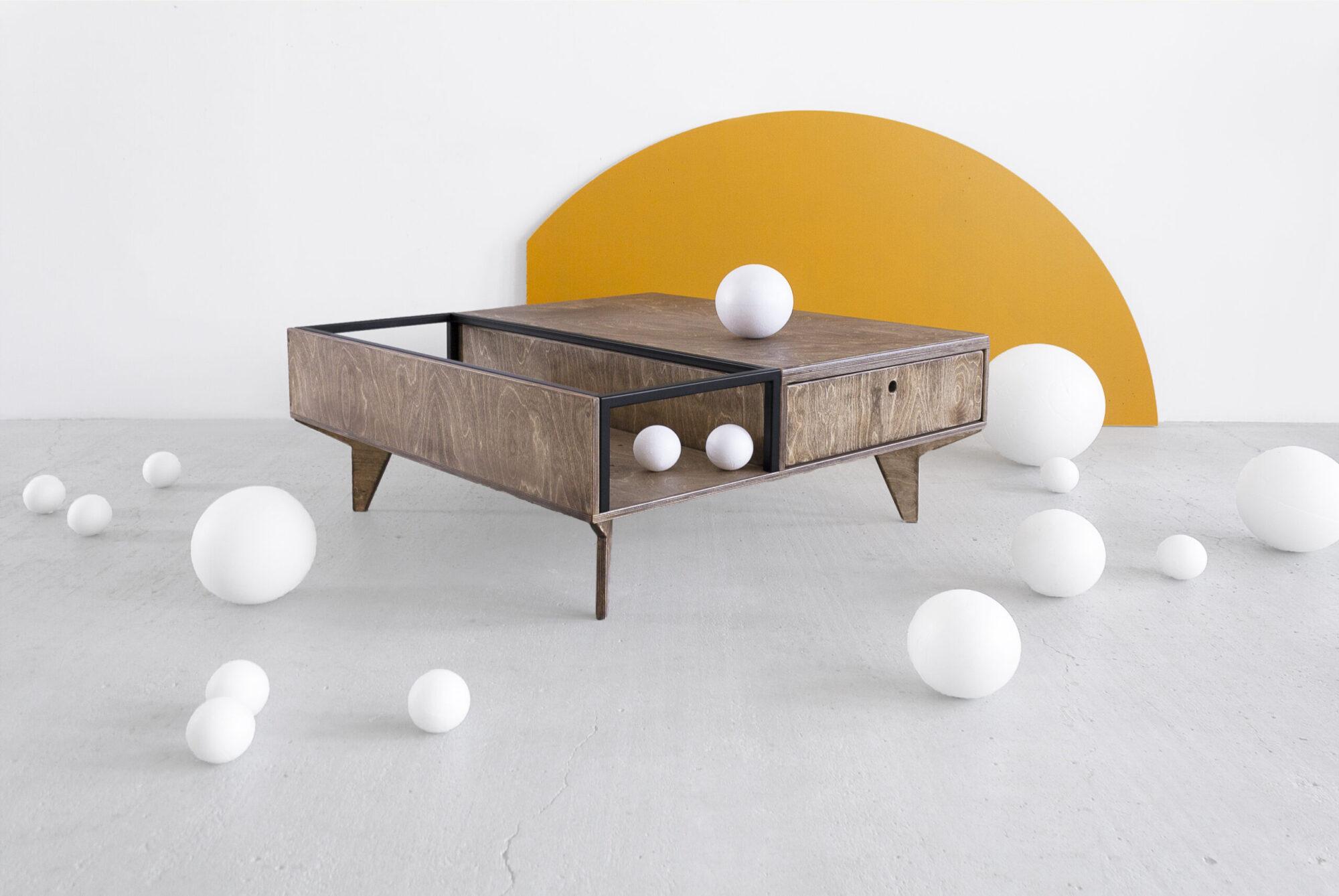 coffee table plywood steel