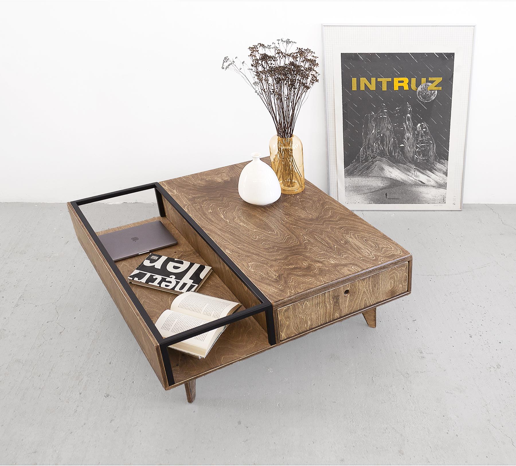 coffee table handmade loft