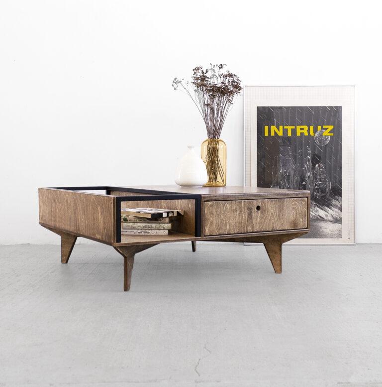 coffee table metal wood