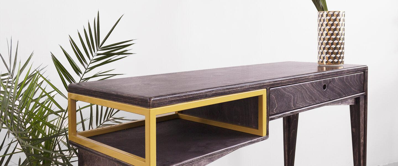 steel frame loft ebony wood