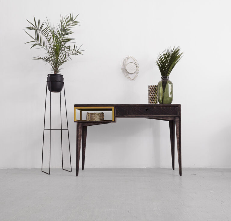 desk home office plywood metal