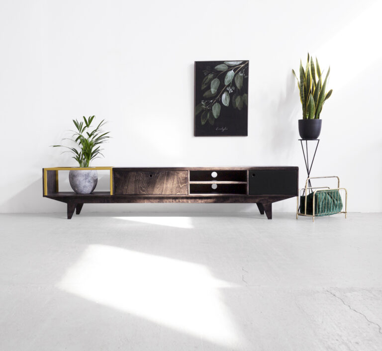 tv stand plywood steel